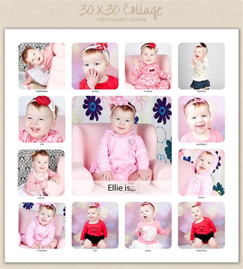 12 Month Photo Collage Template 12 Month Baby Picture Frame Template Picture Frame Ideas