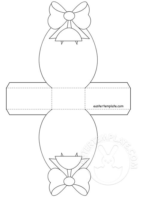 paper easter basket template easter template