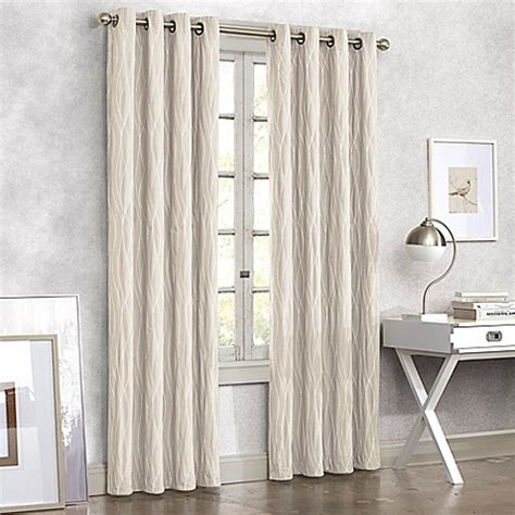 linen grommet curtain panels buy tangent 95 inch grommet top window curtain panel in