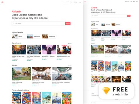 airbnb ui kit responsive ui kit psd free psds sketch app resources