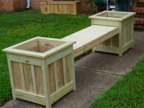 how to build a planter box bench decks planters and tables on pinterest