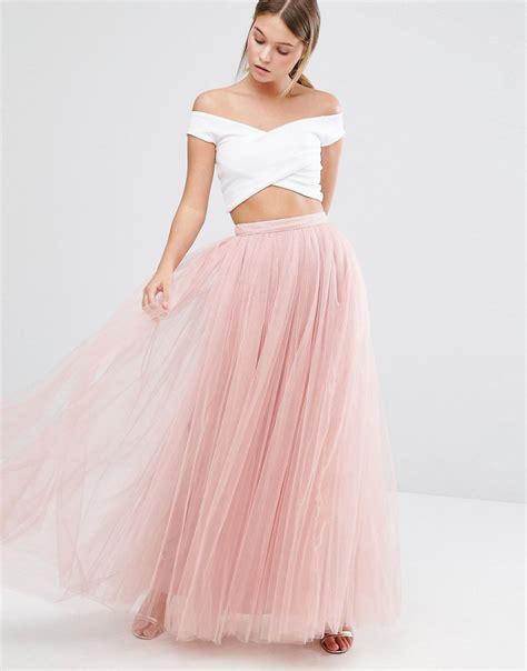 tulle maxi skirt at asos