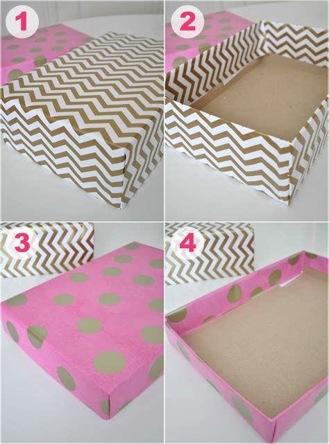 How To Make A Box Out Of Wrapping Paper - iheart organizing uheart organizing creatively colorful