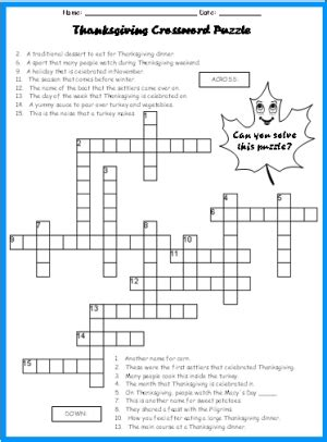printable turkey puzzle printable easy crossword puzzles september 2012