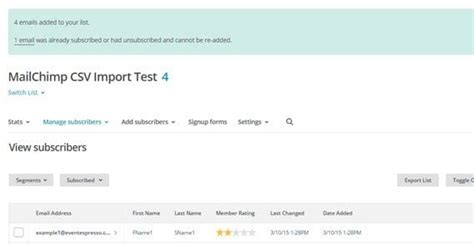 How To Set Up An Automated Weekly Email Newsletter Mailchimp Import Csv Template