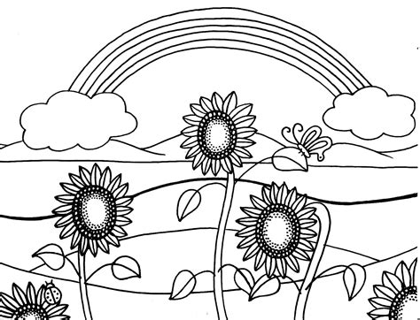 free coloring pages of van gogh sunflowers
