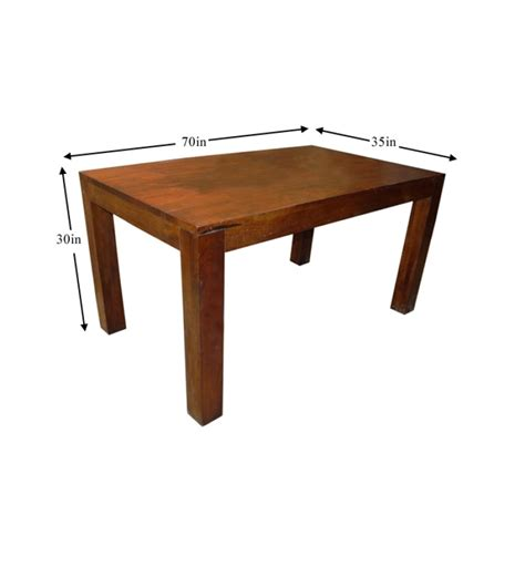 basil mango wood honey dining table by mudra