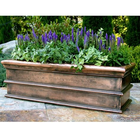 copper window boxes copper window box garden shed greenhouse ideas