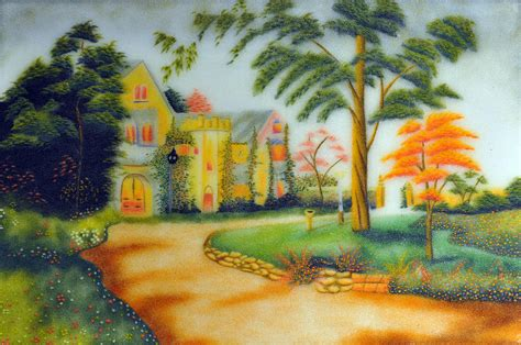 Country House Plans Online beautiful house painting by created by handicap artists