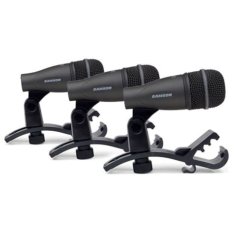 Samson 3 Drum Mic Kit Dk703 samson dk703 drum microphone 3 kit geartree reverb
