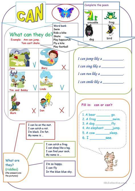 printable games elementary can for kids worksheet free esl printable worksheets