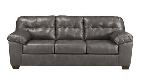 Gray Leather Tufted Sofa Sofa Recliner Set 2pcs Modern Contemporary Bonded