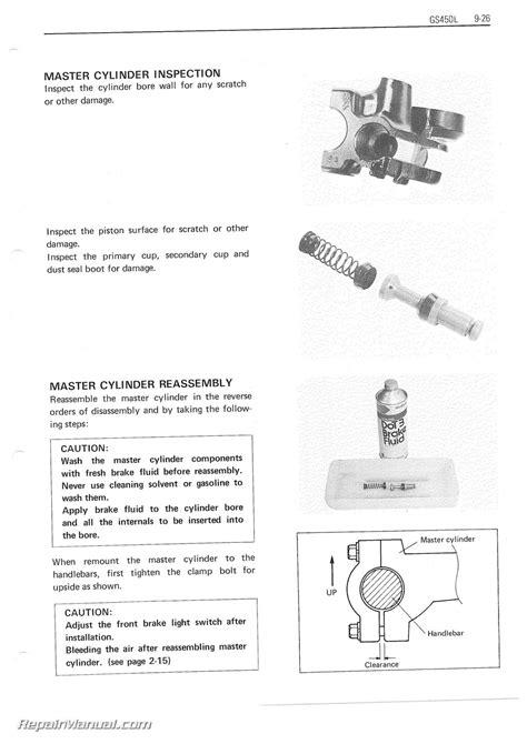 Suzuki Motorcycle Repair Manual 1979 1988 Suzuki Gs450 Motorcycle Service Manual