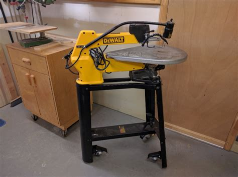 retractable casters for scroll saw stand woodbin