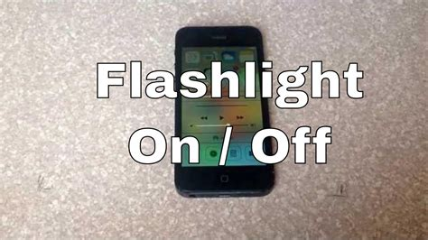 how to turn the led light flashlight on and iphone