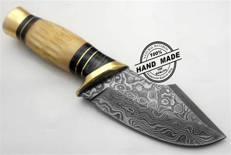 Best Handmade Knives - best damascus skinner custom handmade damascus steel