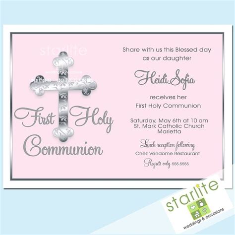 holy communion invitation templates 44 best images about communion invitations on
