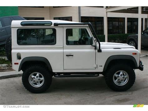 white land rover defender 90 alpine white 1995 land rover defender 90 hardtop exterior