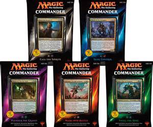 magic commander deck mtg 2015 commander set of all 5 decks hill s wholesale