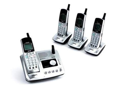 vtech 5 8ghz 4 handset cordless phone with digital answering system