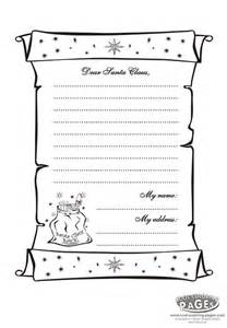 best photos of coloring printable santa letter template