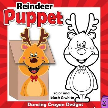 printable reindeer paper puppet 1000 images about printable puppets on pinterest
