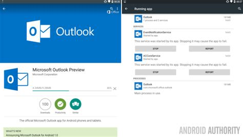 outlook app for android microsoft outlook preview for android lands in the play store android authority