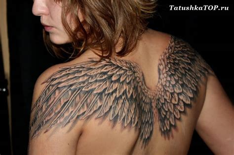 wing tattoos on back wings 3d www pixshark images