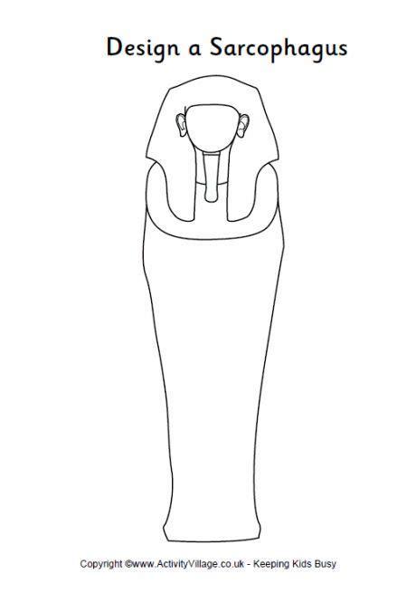 design  sarcophagus printable outline sarcophagus