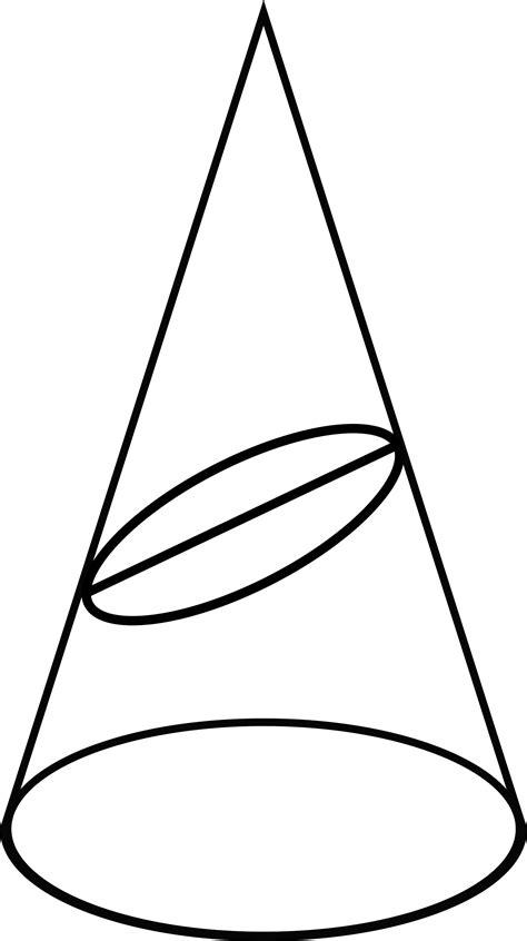 conic section ellipse conic section showing an ellipse clipart etc