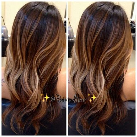brunette hairstyles autumn 2015 fall hair trend brunette hair with caramel babylights
