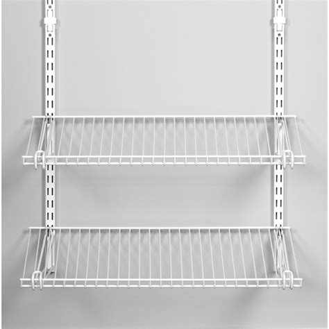 install rubbermaid wire shelving shop rubbermaid homefree series 4 ft adjustable mount wire