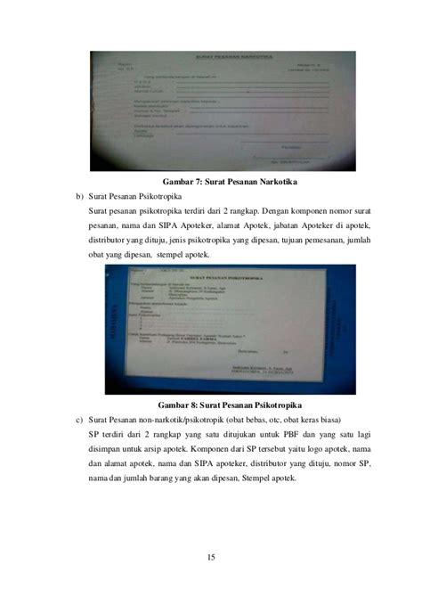 format laporan narkotika laporan praktek belajar lapangan farmasi unsoed