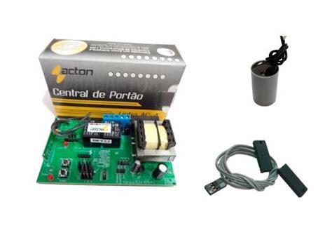 capacitor motor portão automatico kit central placa para motor port 227 o capacitor fim de curso drasantos e commerce sua