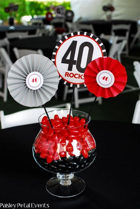 paisley petal events 40th birthday party centerpiece 3