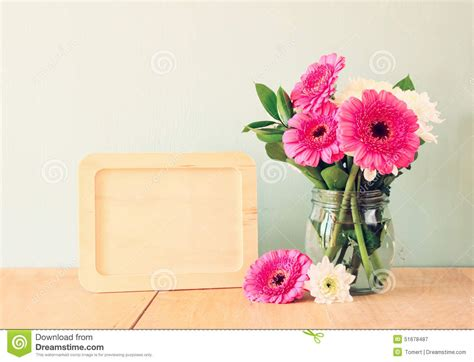 Summer Bouquet by Summer Bouquet Of Flowers On The Wooden Table And Wooden
