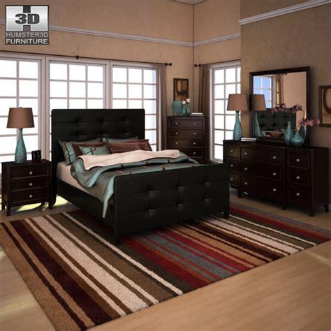Carlyle Bedroom Furniture 3d Model Carlyle Upholstered Bedroom Set Vr Ar Low Poly Max Obj 3ds Fbx Cgtrader