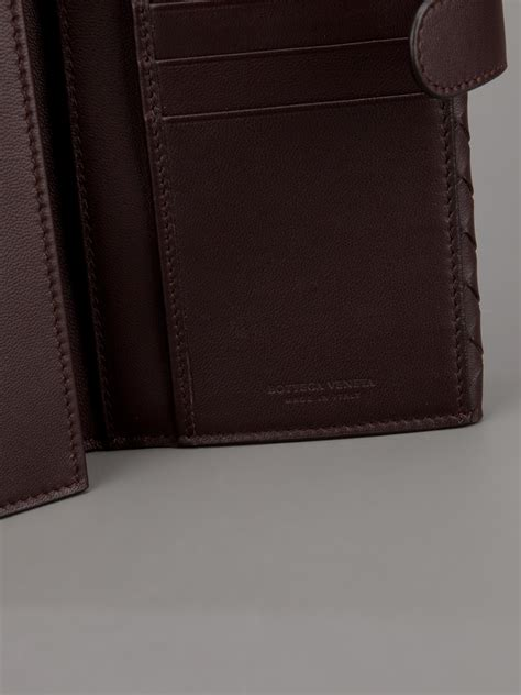 Jual Dompet Bottega Veneta With Coin Purse Brown Mirror Quality lyst bottega veneta woven leather trifold wallet in brown