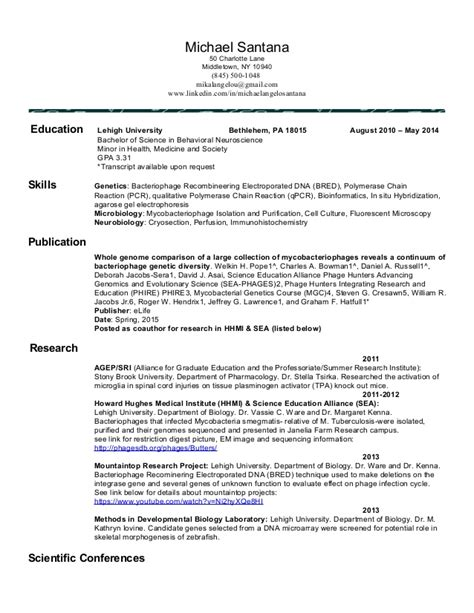 lehigh resume writing