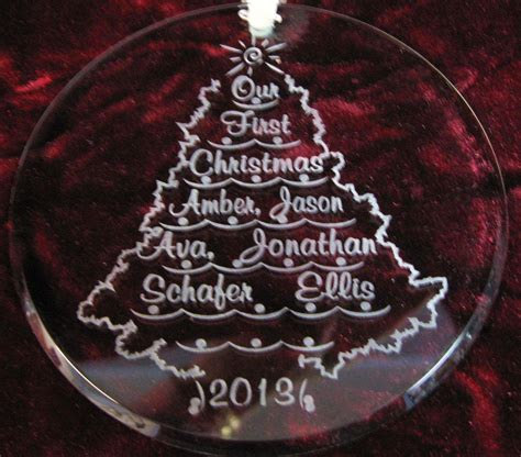 28 best engraved christmas tree ornaments personalized