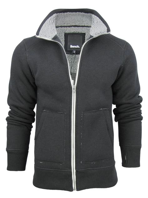bench mens bench mens zipped heavy hoodie jumper jacket kaufman long sleeved ebay