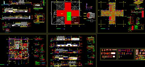 Free Home Floor Plans hospital project design autocad dwg drawings