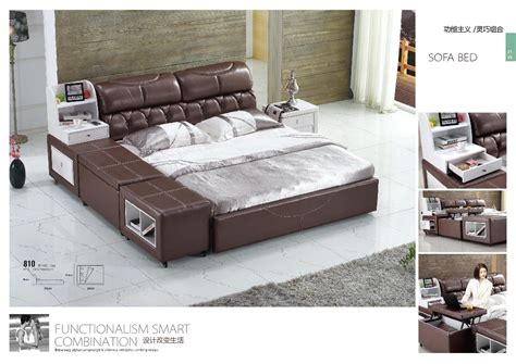 italian leather bedroom sets italian top grain leather bed king bedroom furniture in beds from furniture on aliexpress com