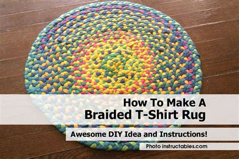 How To Make Braided Rag Rugs by How To Make A Braided T Shirt Rug