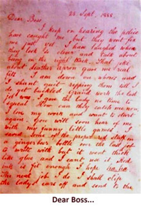 lettere di lo squartatore lo squartatore serial killer dossier pagina 4