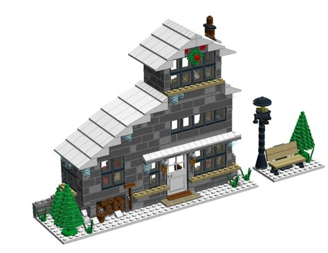 winter cottage lego ldd moc winter cottage lego town eurobricks forums