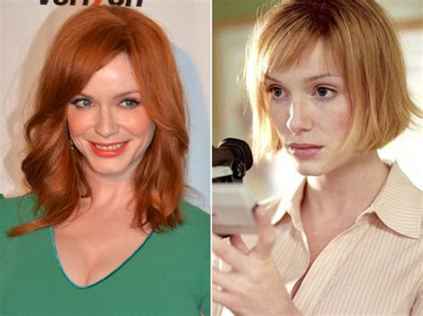 christina hendricks hair color pictures blonde celebrities who hide their natural hair