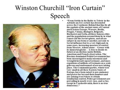 winston churchill iron curtain speech meaning from world war to cold war ppt download