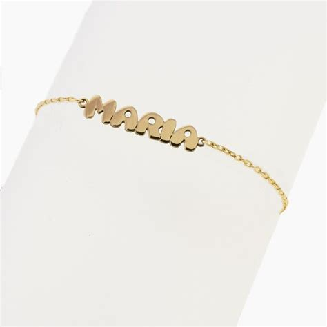 cadena de oro 18k con nombre precio pulsera con nombre y cadena en oro amarillo primera ley