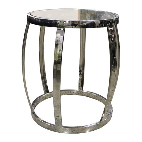 drum side table drum side table polished clear le forge